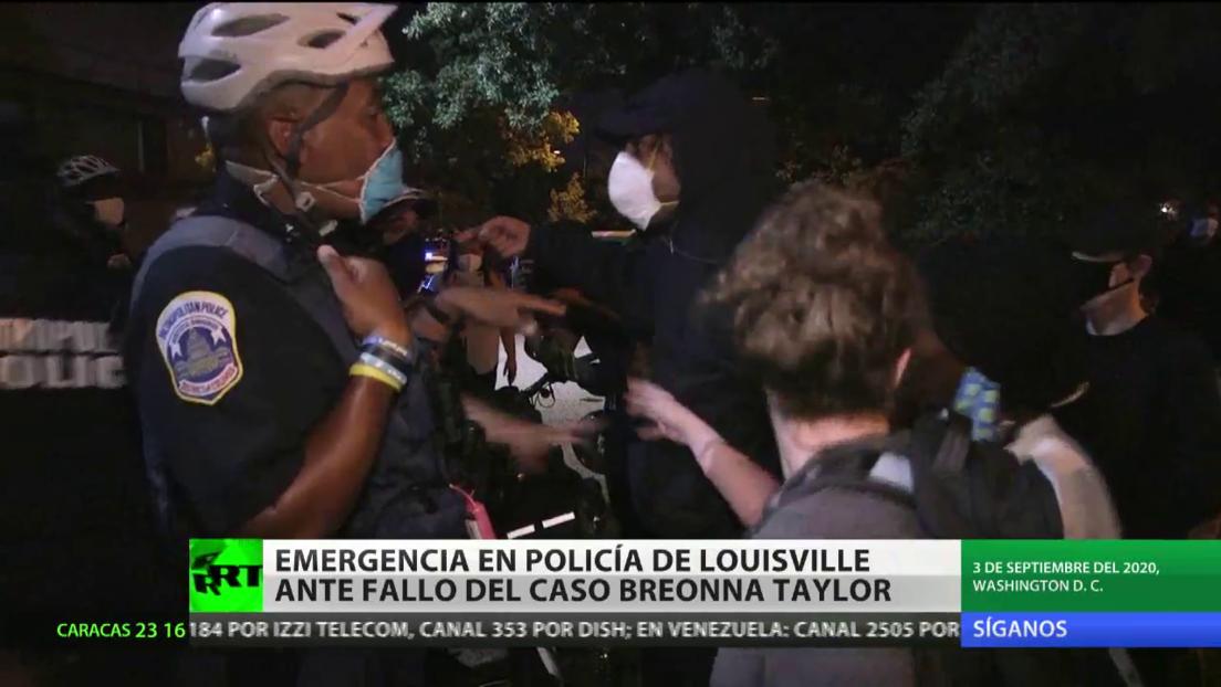 Decretan el estado de emergencia en la Policía de Louisville ante fallo del caso de Breonna Taylor
