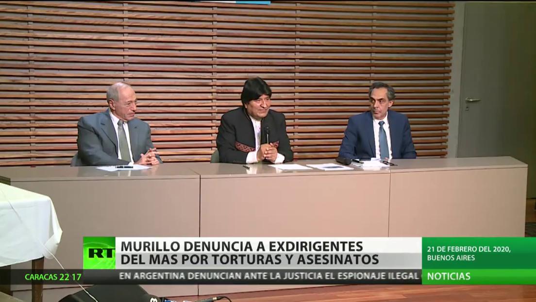 Arturo Murillo denuncia a exdirigentes del MAS por torturas y asesinatos
