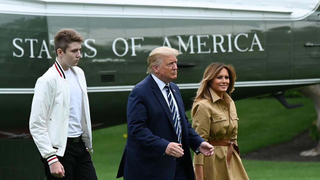 Melania Trump revela que su hijo adolescente Barron también dio positivo por covid-19