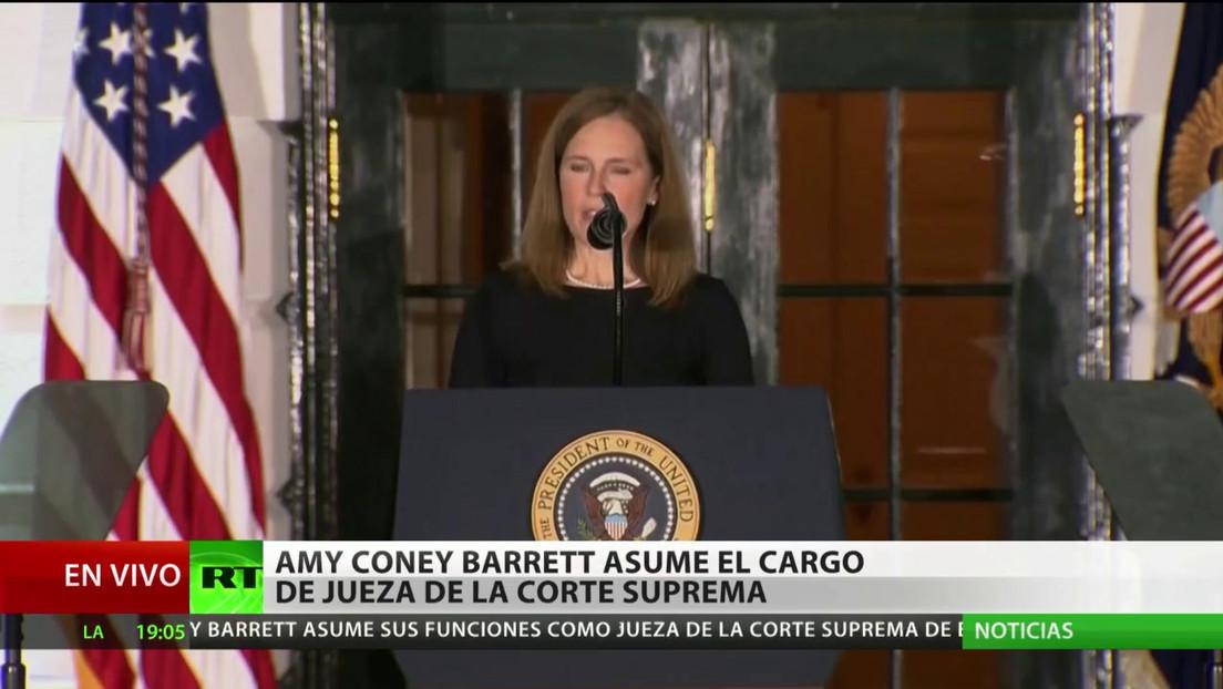 Amy Coney Barrett asume el cargo de jueza de la Corte Suprema de EE.UU.