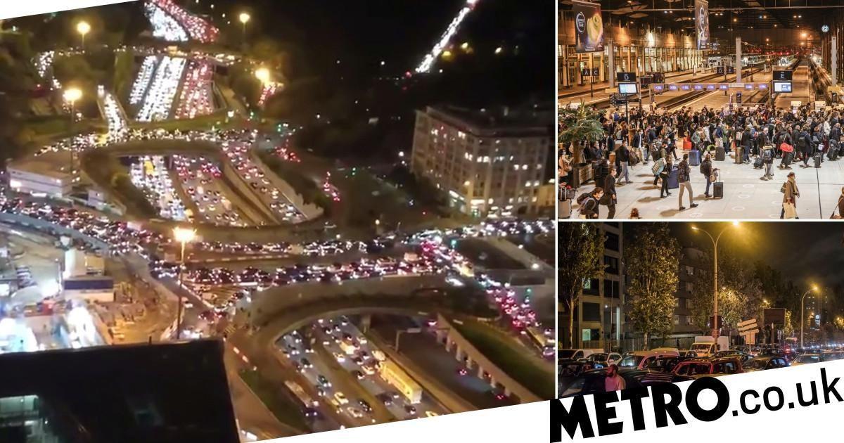 París paralizada tras éxodo masivo antes del nuevo cierre nacional