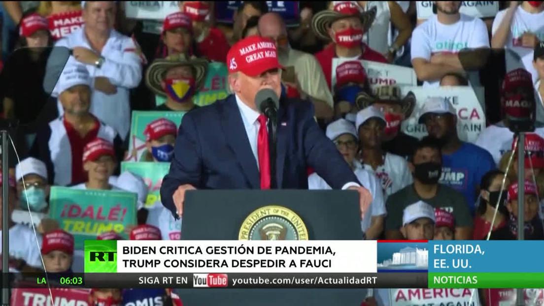 EE.UU.: Trump y Biden intercambian críticas por el coronavirus a un día de las elecciones