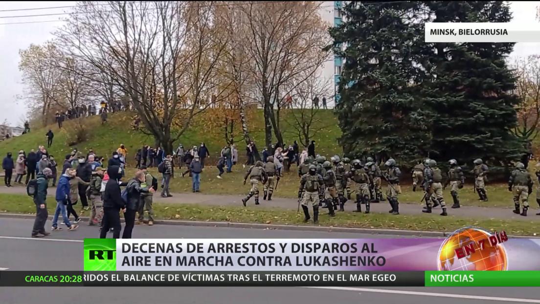 Bielorrusia: Decenas de arrestos y disparos al aire en marcha antigubernamental en Minsk