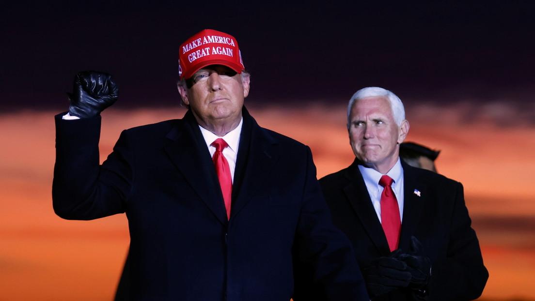 Trump: «Estamos a lo grande, pero están tratando de robar las elecciones. Nunca les dejaremos hacerlo»