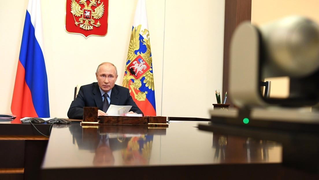 Putin en la cumbre BRICS: «Es crucial unir los esfuerzos para la producción masiva de vacunas contra el coronavirus»
