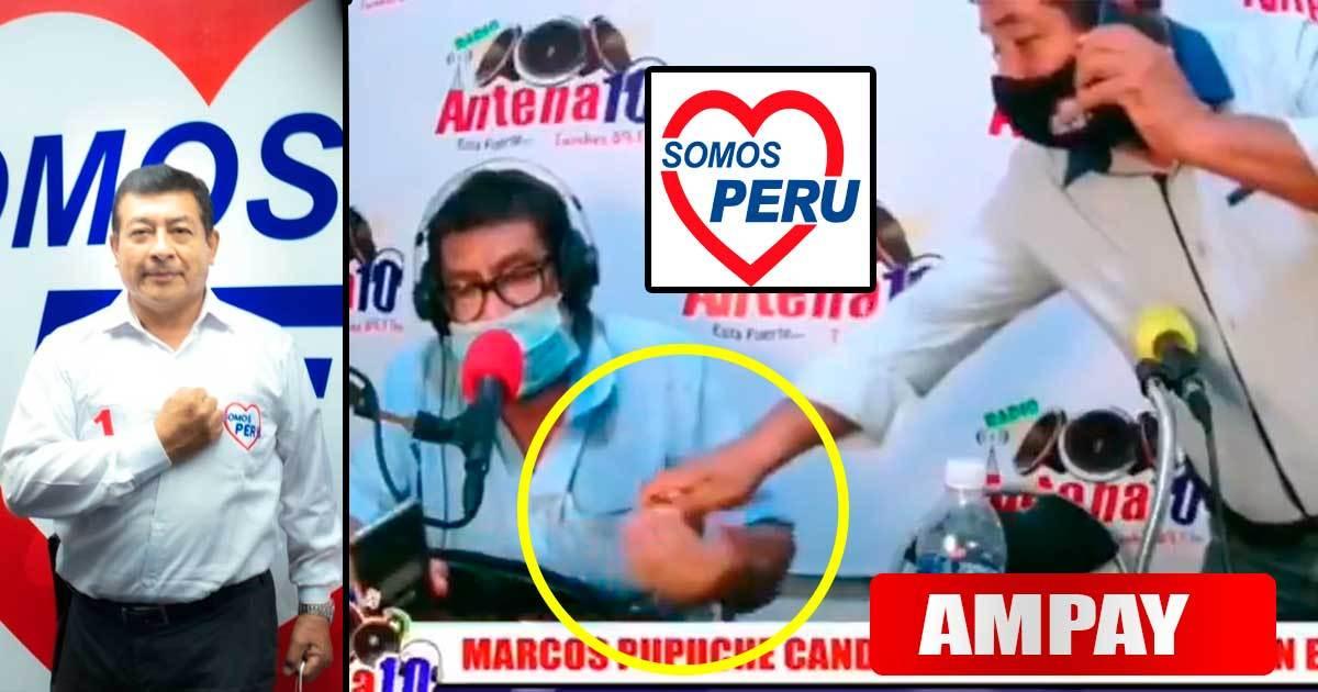 Candidato de Somos Perú es captado entregando billetes a conductor que lo entrevistó | VIDEO