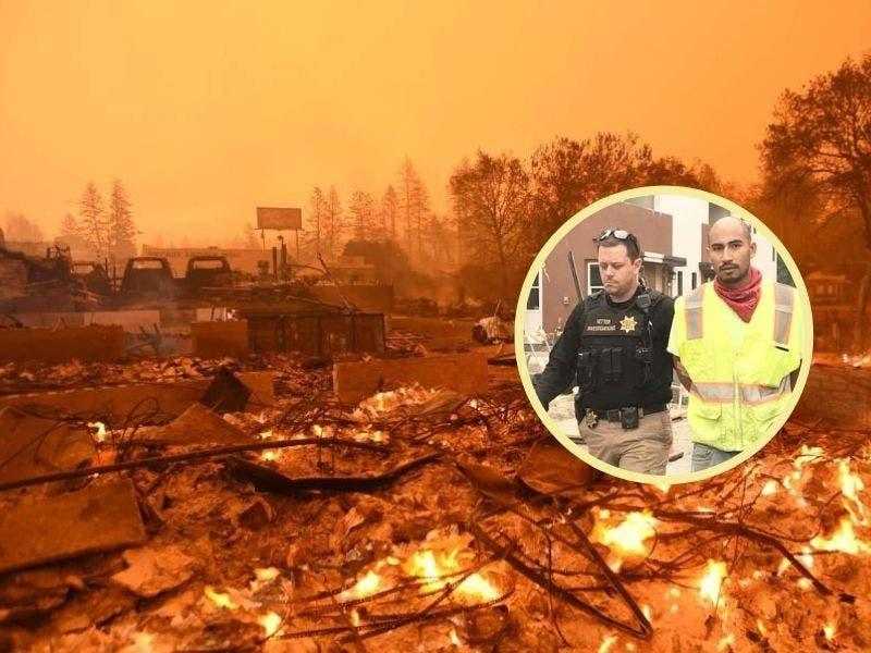 Incendio de California fue intencional; hombre quería cubrir un asesinato