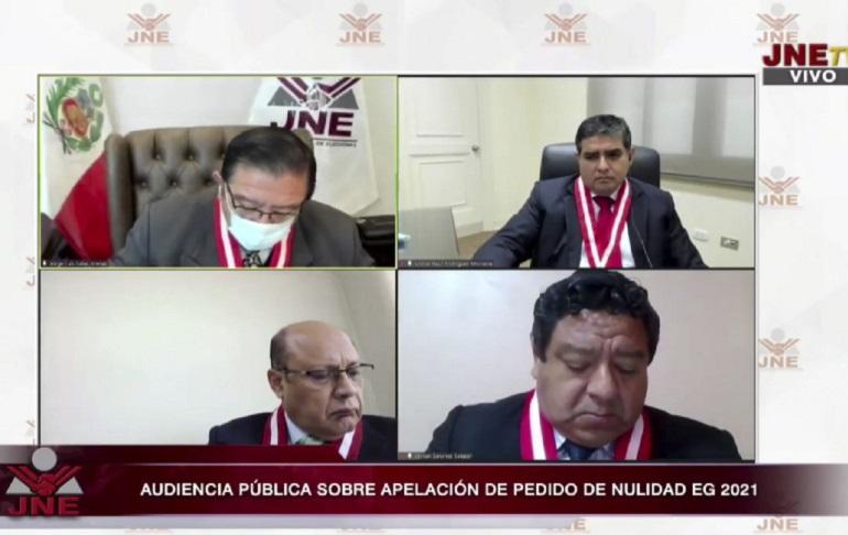 JNE declaró infundados siete apelaciones sobre pedidos de nulidad que interpuso Fuerza Popular