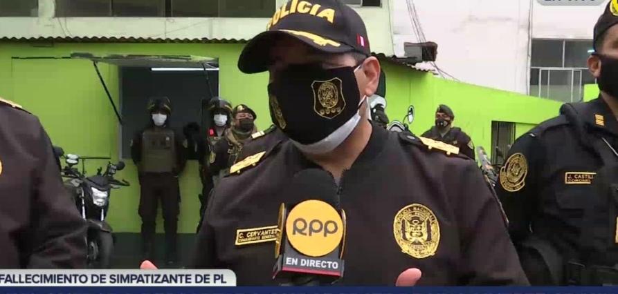 """Policía sobre el fallecimiento de simpatizante de Perú Libre: """"Ha quedado descartado que se trate de una muerte criminal"""""""