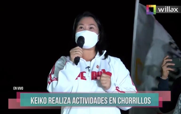 """Keiko Fujimori: Francisco Sagasti genera más """"dudas y división"""" al negarse a pedir una auditoría internacional"""