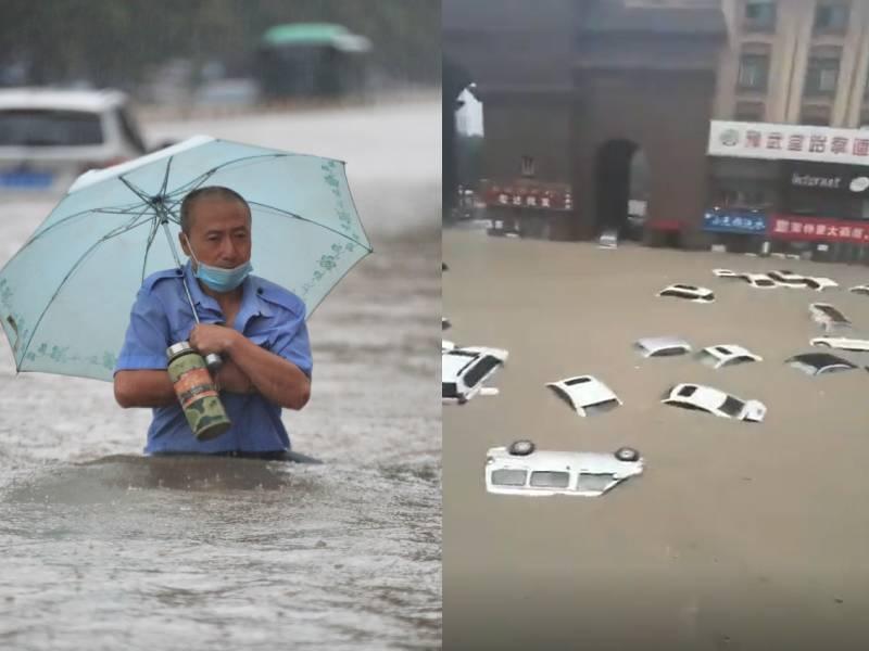 No sólo es Alemania, también en China sufren graves inundaciones